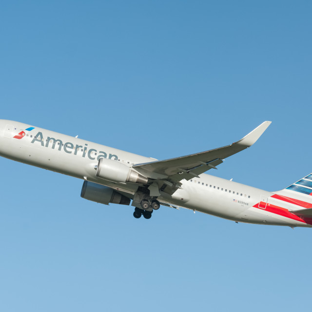 """""""American Airlines Boeing 767"""" stock image"""