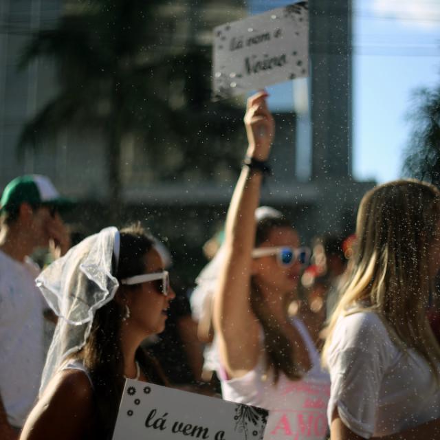 """""""Bloco Casa Comigo (Marry me)"""" stock image"""