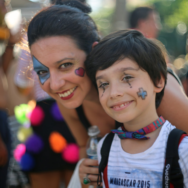 """Mother & Son at Carnival"" stock image"