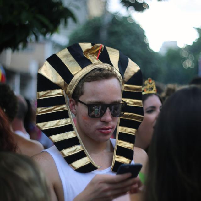 """Carnaval Tinder?"" stock image"