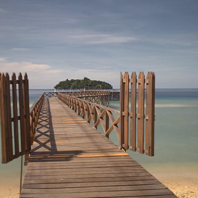 """Weh Island Gate"" stock image"