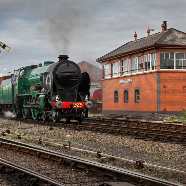 """Passenger Steam Engine waiting to Depart"" stock image"