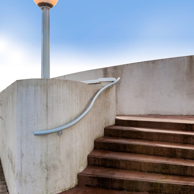 """Steps and a Lamp"" stock image"
