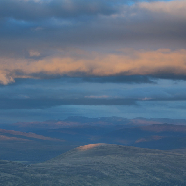 """Lochnagar from Derry Cairngorm"" stock image"
