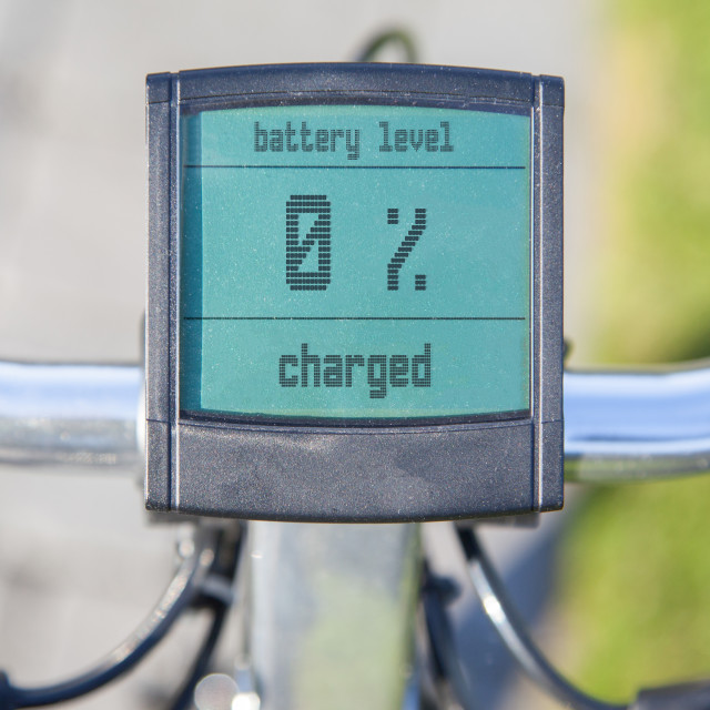 """""""Electric bicycle display in the sun"""" stock image"""