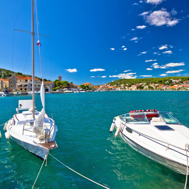 """Adriatic coas in town of Tisno"" stock image"