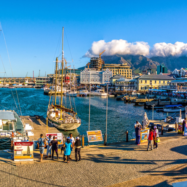 """VA Waterfront in Cape Town, South Africa"" stock image"