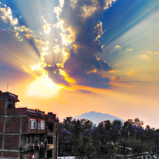 """Kathmandu Sky"" stock image"