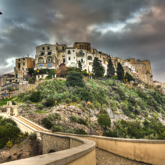 """Sperlonga old italian fishing village"" stock image"