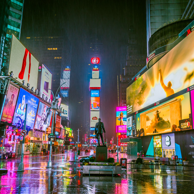 """Times Square NYC @ 4AM"" stock image"