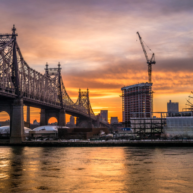 """The 5th Street bridge at sunrise"" stock image"