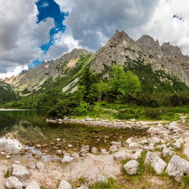 """Popradske Tarn panorama"" stock image"