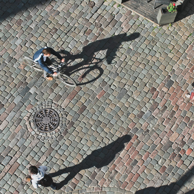 """""""People seen from above"""" stock image"""