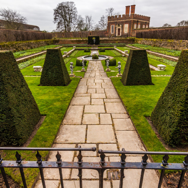 """Hampton Court garden"" stock image"