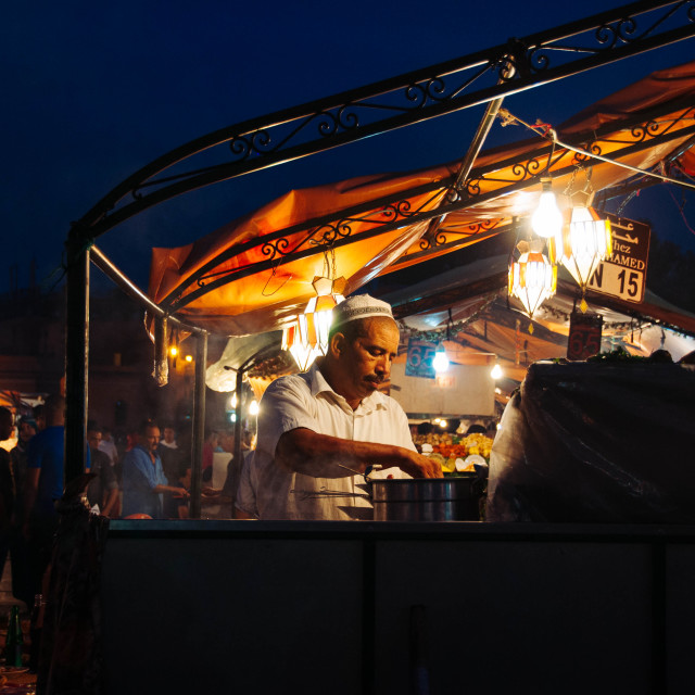 """Moroccan Night Market"" stock image"