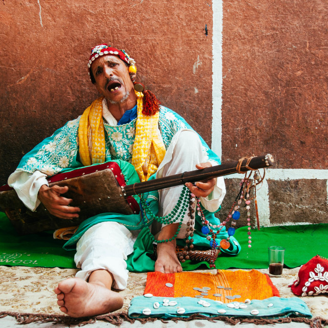"""Moroccan Troubadour"" stock image"