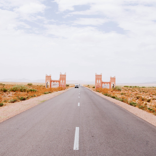 """Moroccan Road"" stock image"