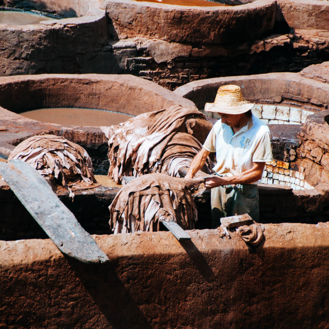 """Chouara Leather Tannery"" stock image"