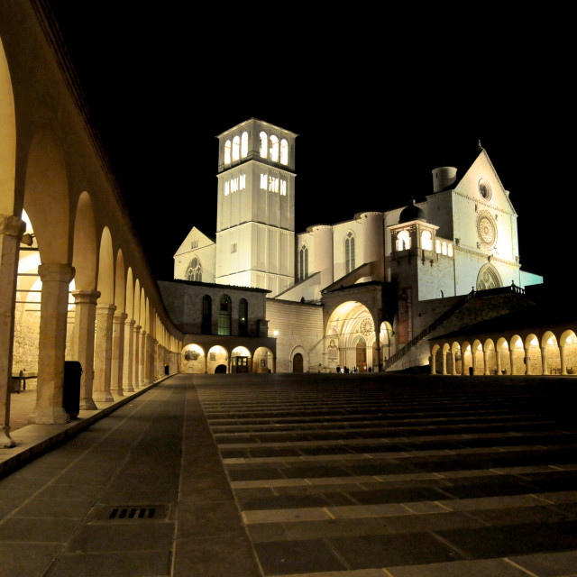 """Assisi's cathedral"" stock image"