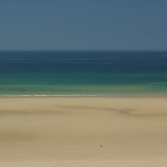 """""""Perran Beach"""" stock image"""