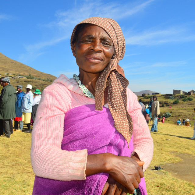 """Lady of Lesotho"" stock image"