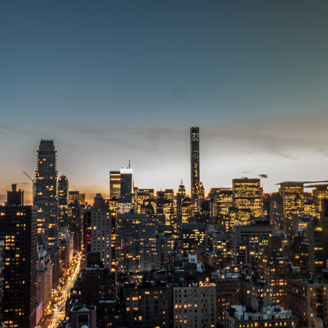 """Midtown Twilight"" stock image"