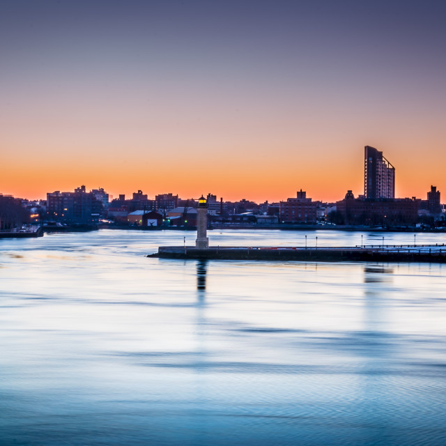 """Golden hour overlooking the East River - NYC"" stock image"