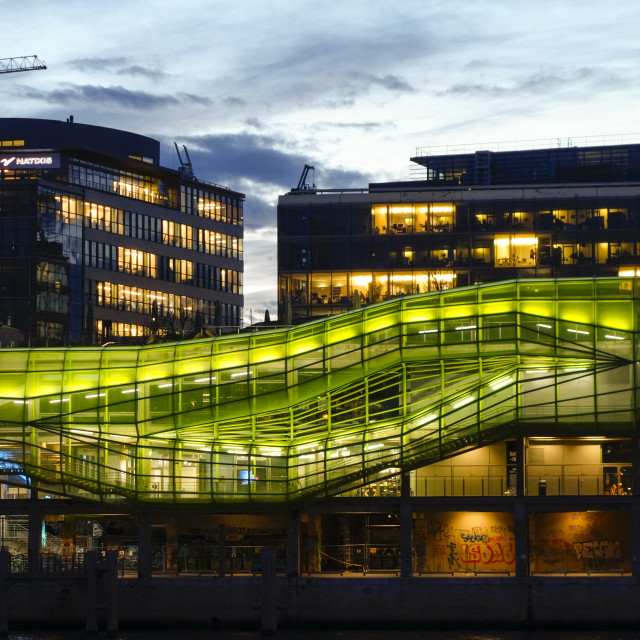 """Illuminated building, Les Docks Cité de la Mode et du Design."" stock image"