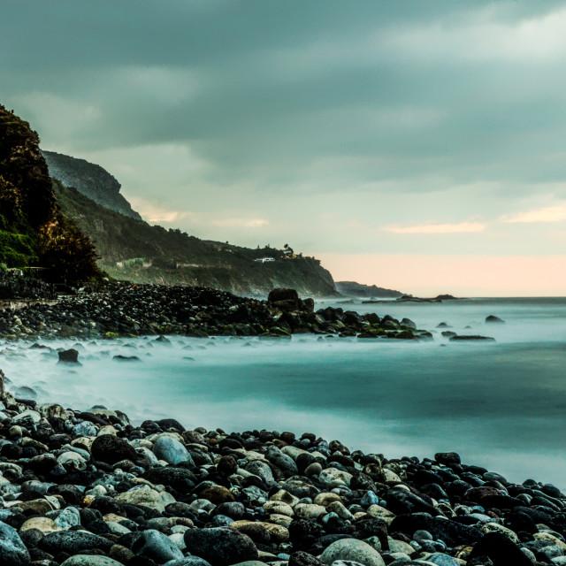 """Sunset over the Atlantic (Tenerife)"" stock image"