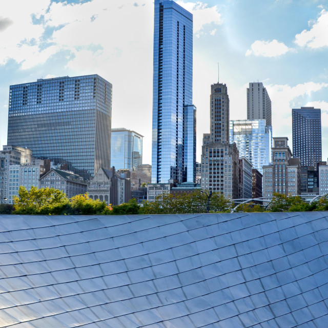 """Chicago skyscrapers panorama"" stock image"