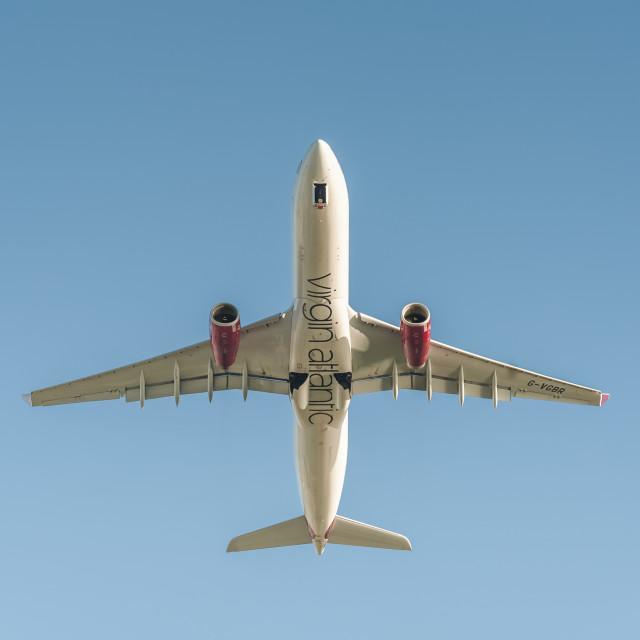 """Virgin Atlantic Airbus A330"" stock image"