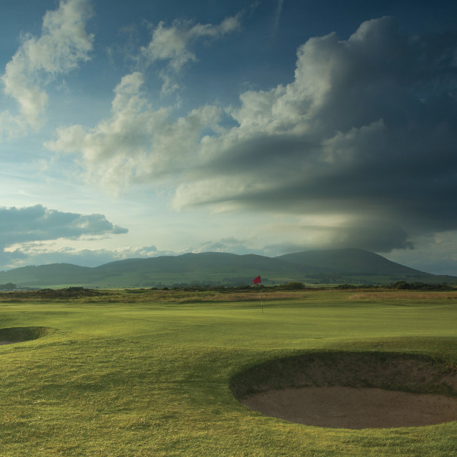 """""""Southerness Golf Course"""" stock image"""