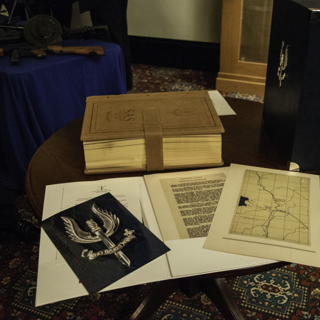 """SAS War Diary at RMAS"" stock image"