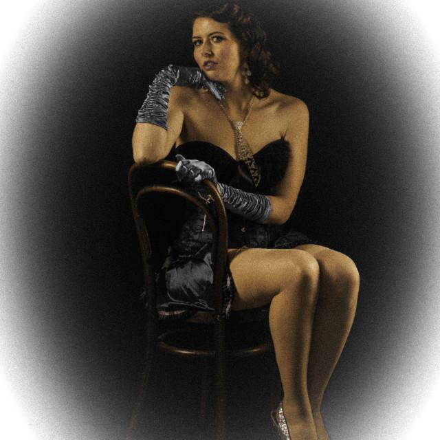 """""""Katerina La Kink, Dancer"""" stock image"""