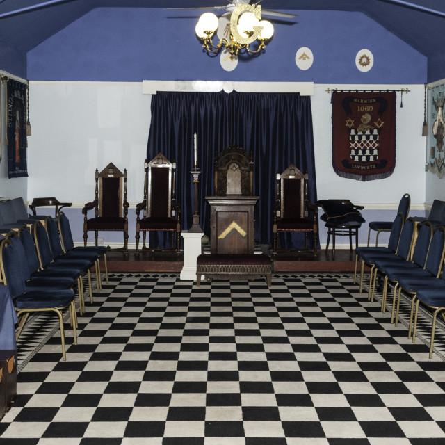 """An English Freemasons Temple"" stock image"