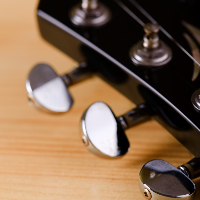 """Part of black guitar head"" stock image"