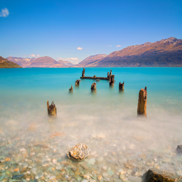 """The old jetty ...."" stock image"