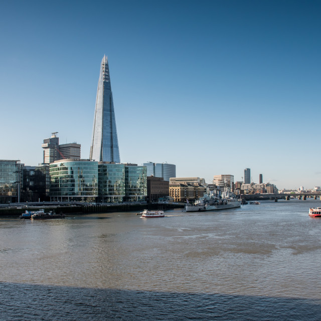 """London - Scenes from the River Thames"" stock image"