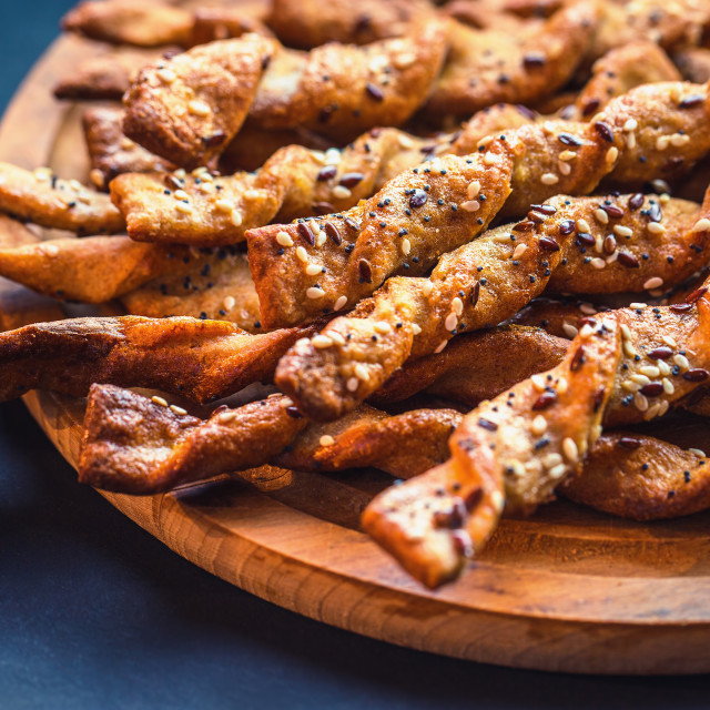 """Bread Sticks with seeds close up"" stock image"