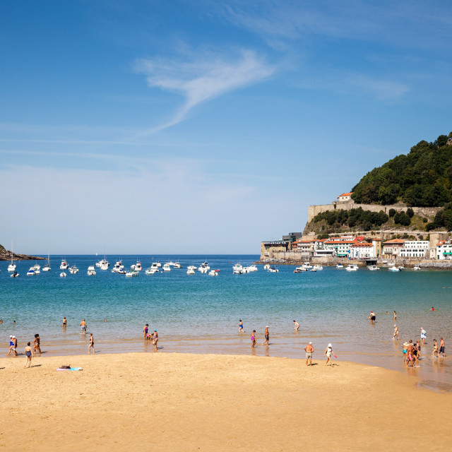 """Beach in San Sebastian, Spain"" stock image"