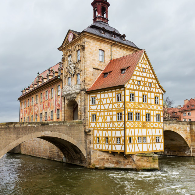 """Altes Rathaus or Old Town Halll in Bamberg, Germany"" stock image"