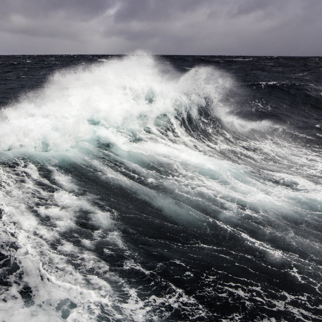 """Brave Sea in Drake Passage"" stock image"