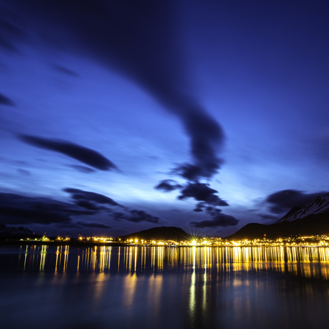 """Night in Ushuaia"" stock image"