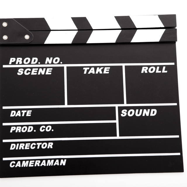 """Clapboard"" stock image"