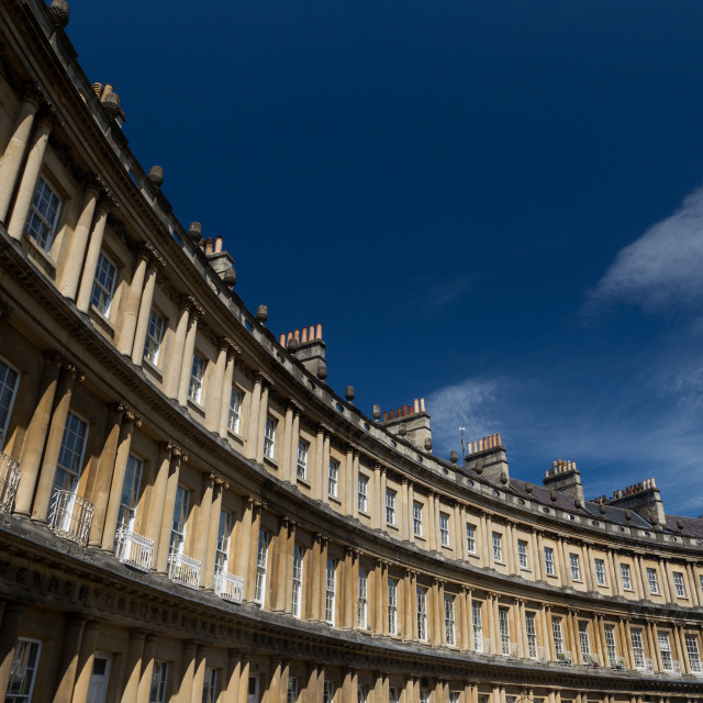 """City of Bath - The Circus"" stock image"
