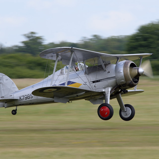 """Gloster Gladiator Biplane"" stock image"
