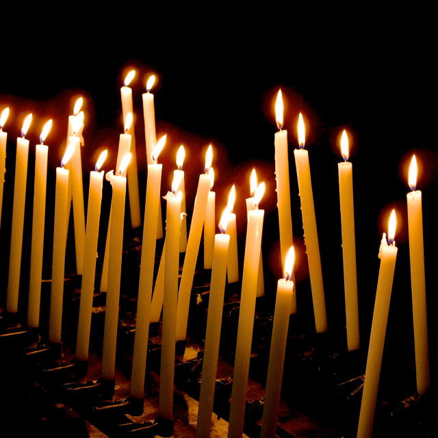 """""""The candle's light"""" stock image"""
