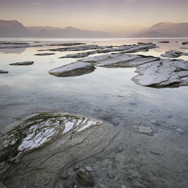 """""""Sunset on Lake Garda"""" stock image"""