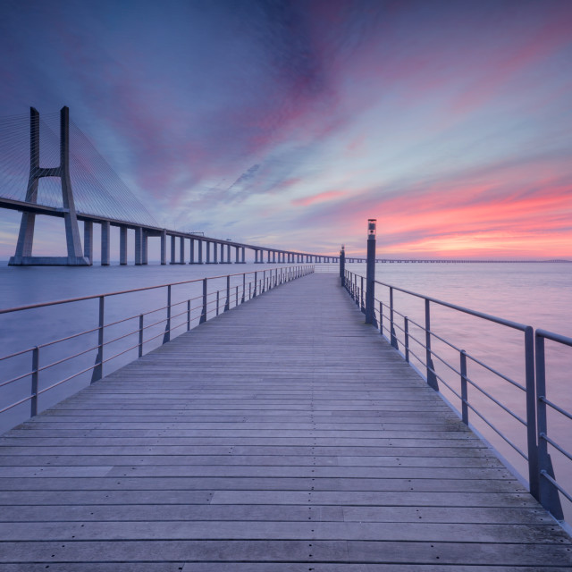 """""""Bridge in Lisbon"""" stock image"""