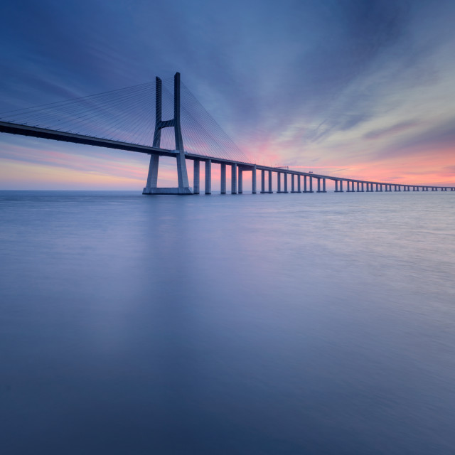 """Famous bridge in Portugal"" stock image"